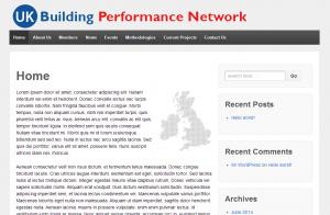 UK BPN example of wordpress website